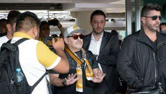Maradona arriba a la CDMX