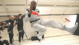 Usain Bolt en un vuelo en gravedad cero
