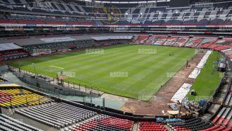 La cancha del Estadio Azteca en mejor estado