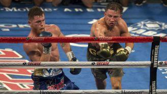 Canelo y Golovkin durante la primera pelea entre ambos