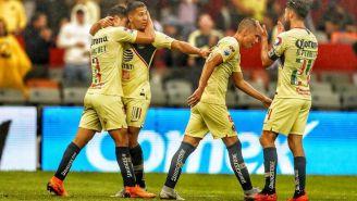 La celebración del gol de Jorge Sánchez