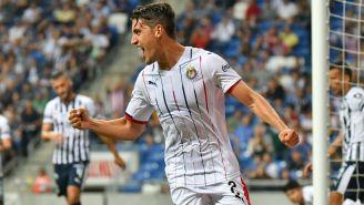 Van Rankin festeja gol contra Monterrey en la J9 del A2018
