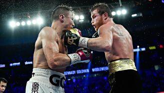 Canelo y Golovkin durante la pelea