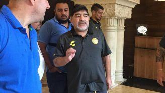 Maradona, horas antes de su debut como DT de Dorados de Sinaloa