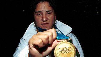 Soraya Jiménez posa con su medalla en Sydney