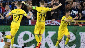 La celebración del gol de Christian Pulisic