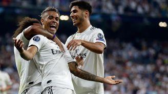 Mariano festeja su golazo contra La Roma