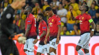 Pogba celebra uno de sus goles con Manchester United