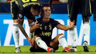 Cristiano Ronaldo, en lamento tras ser expulsado con la Juve