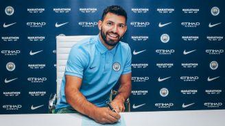 Agüero firma contrato con Manchester City