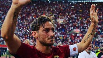 Francesco Totti durante su partido de retiro