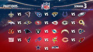 EN VIVO Y EN DIRECTO: NFL Semana 3 domingo