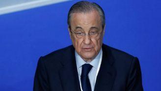 Florentino Pérez durante la Asamblea del club