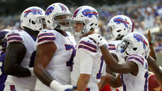 Buffalo Bills festeja touchdown contra Vikings