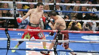 Julio César Chávez Jr. y 'Maravilla' Martínez durante su primera pelea