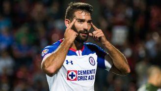 Cauteruccio celebra el segundo gol de La Máquina ante Xolos