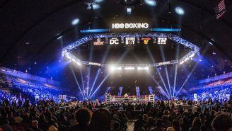 El escenario previo a una pelea de HBO