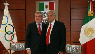 Thomas Bach y López Obrador durante su reunión