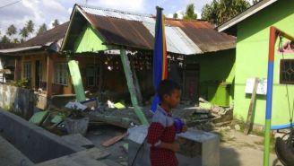 Casas destruidas después del terremoto