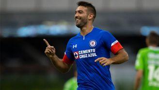 Cauteruccio celebra su anotación frente a Juárez en Copa MX