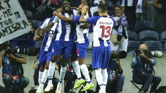 Moussa Marega celebra anotación del Porto