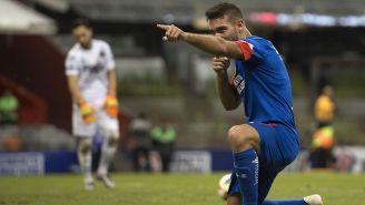 Cauteruccio celebra gol contra Juárez