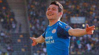Chucky Lozano festejando gol con el PSV