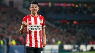 El Chucky Lozano durante un juego del PSV