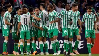 Real Betis, durante el encuentro ante el Dudelange