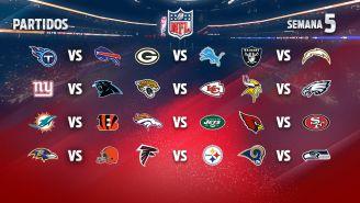 EN VIVO Y EN DIRECTO: NFL Semana 5 domingo