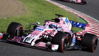 Checo Pérez, durante el GP de Japón
