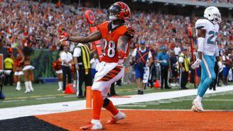 Joe Mixon celebra touchdown contra Miami