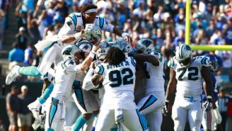 Carolina Panthers celebran triunfo sobre Giants