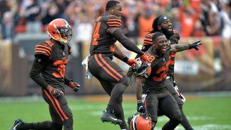 Jugadores de los Browns enloquecen tras el triunfo