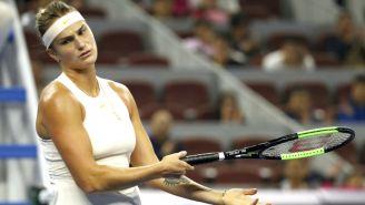Aryna Sabalenka, durante un partido en el China Open