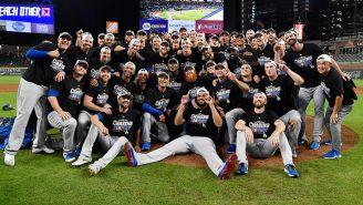 Dodgers celebra el pase en el SunTrust Park