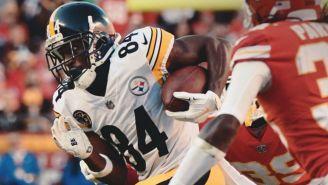 Antonio Brown durante un juego entre Steelers y Chiefs