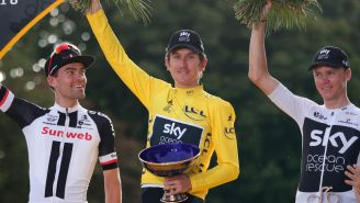 Geraint Thomas presume su trofeo del Tour de France