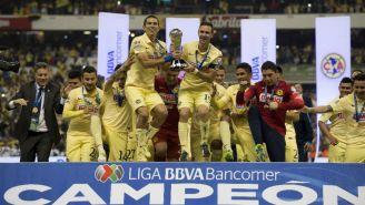 América celebra la obtención del título 12 en el Estadio Azteca
