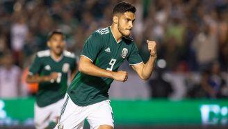 Jiménez, tras marcar de penalti ante Costa Rica en el Volcán Universitario