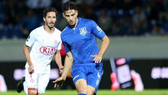 Briseño, en un partido con el Feirense