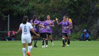 Pachuca festejando su victoria ante Pumas