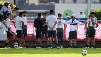 Jugadores del Tricolor durante un entrenamiento