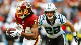 Josh Norman durante el partido vs Carolina