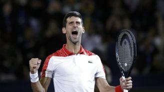 Djokovic  celebra con euforia victoria en el Masters de Shanghai