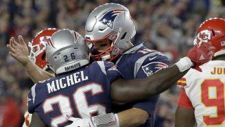 Brady y Michel celebran anotación de los Pats