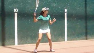 Diana Nuñez durante un partido
