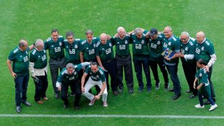 Varios de los integrantes del Tri en México 1968 fueron 'homenajeados' en el Estadio Azteca