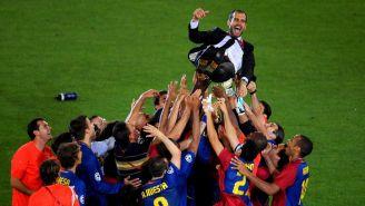 Barcelona levanta a su entonces técnico, Pep Guardiola