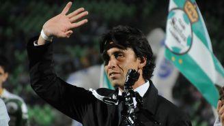 Joaquín Reyes en un evento con Santos